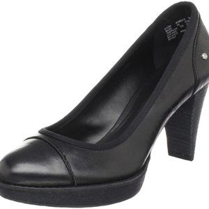 Rockport 9.5 Platform Pump High Heels Leather